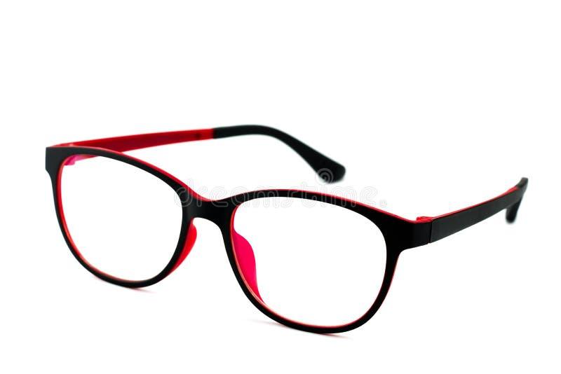 Vidros pretos de Red Eye isolados imagem de stock royalty free