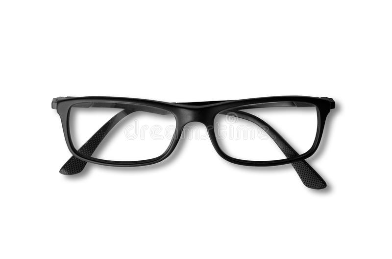Vidros pretos isolados no branco fotografia de stock