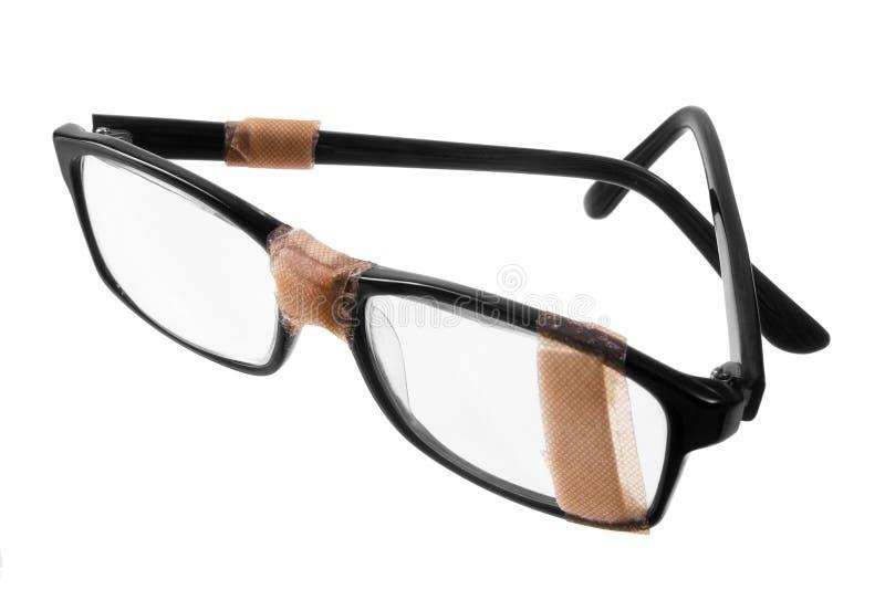 Vidros quebrados do olho fotografia de stock royalty free