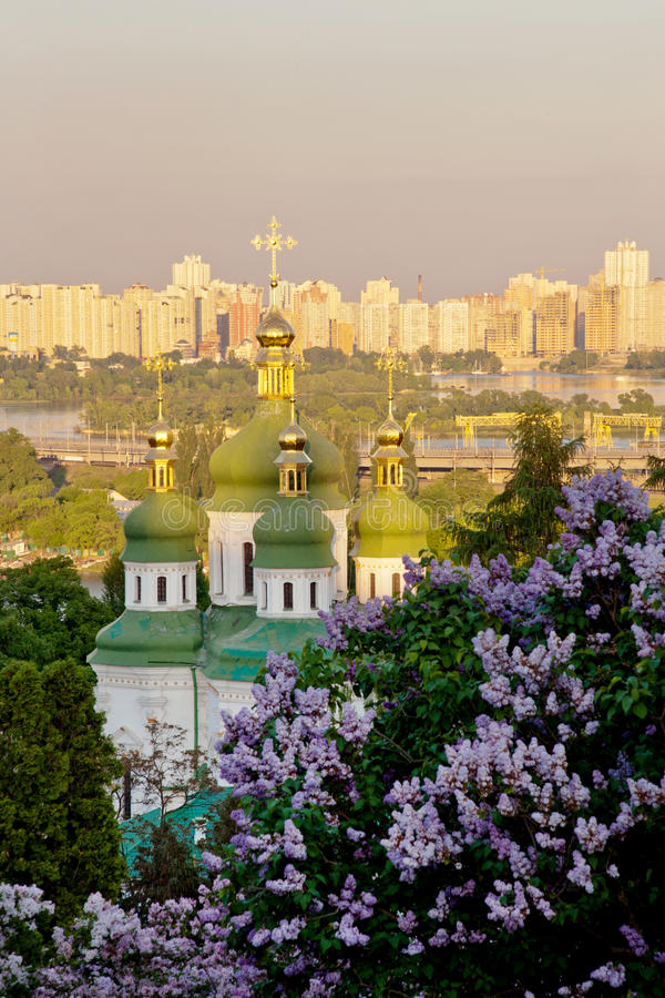 Vidubitsky monastery royalty free stock images