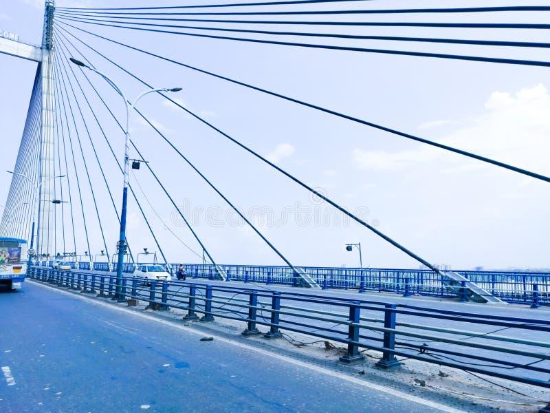 Vidyasagar setu over ganges river in kolkata stock photography