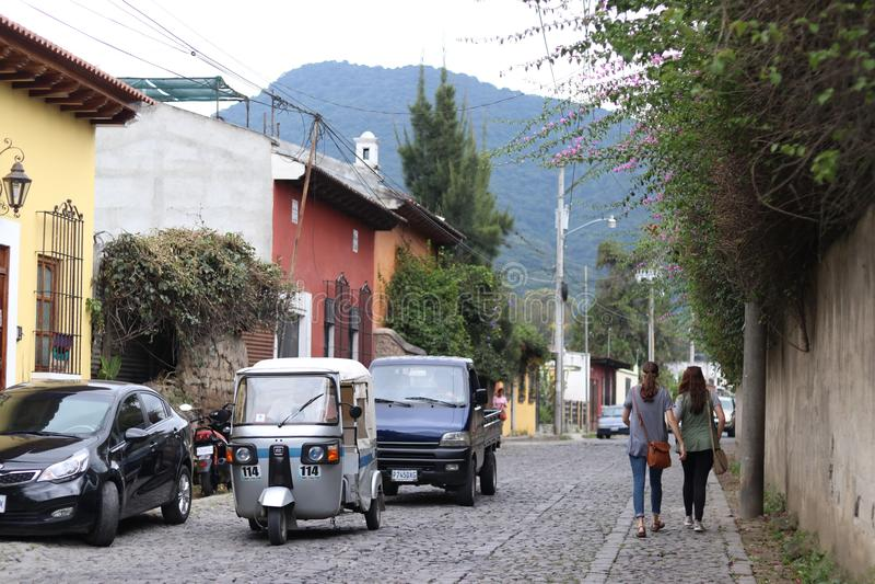 Vie in Antigua, Guatemala fotografia stock libera da diritti