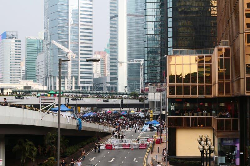 Vie bloccate nel centro direzionale di Hong Kong fotografia stock libera da diritti