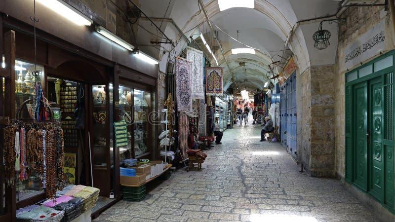 Vie città del ` s di Gerusalemme di vecchia, Israele immagine stock libera da diritti