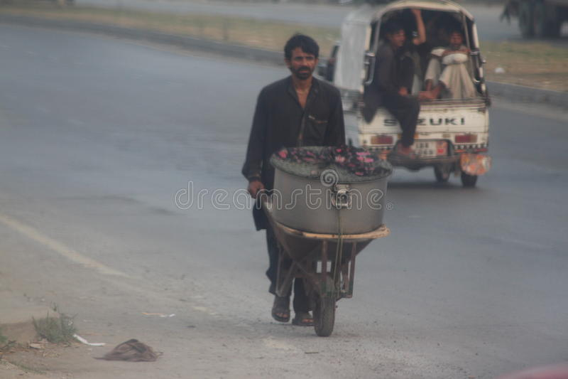Vie dans la rue pakistanaise photographie stock libre de droits