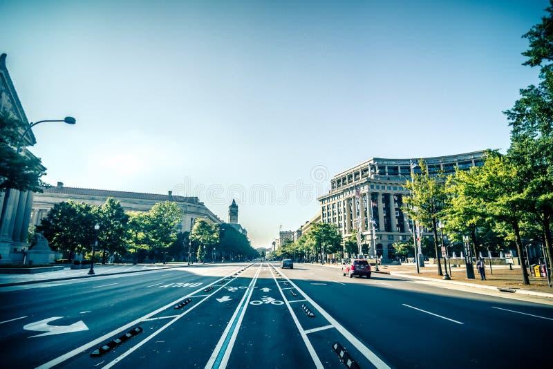 Vie della città di DC di Washington ed architettura storica fotografia stock