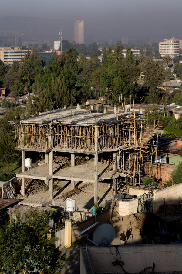 Vie di Addis Ababa fotografia stock libera da diritti