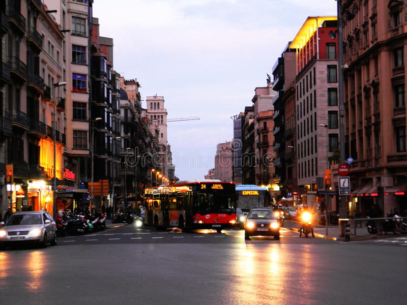 Vie di Barcellona fotografie stock