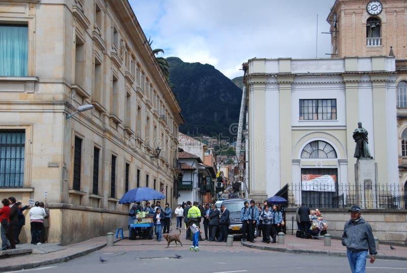 Vie di Bogota, Colombia immagini stock