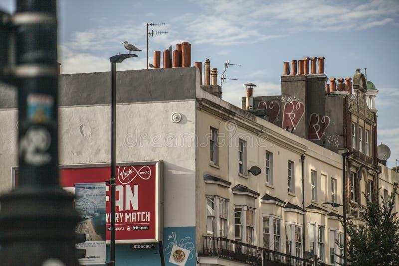 Vie di Brighton, Inghilterra - camini immagini stock