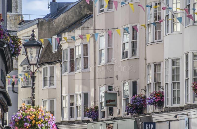 Vie di Brighton, Inghilterra - le case urbane fotografia stock
