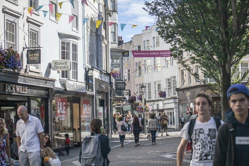 Vie di Brighton, Inghilterra - sole immagini stock libere da diritti