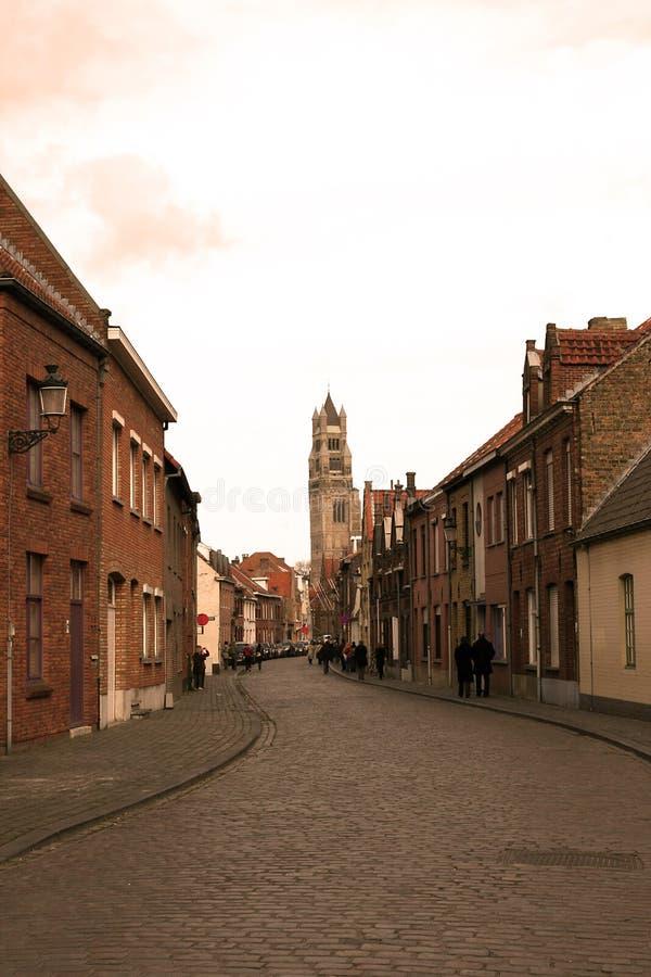 Vie di Bruges. immagine stock libera da diritti