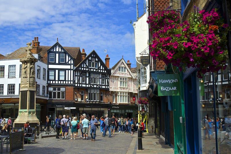 Vie di Canterbury, Regno Unito immagine stock