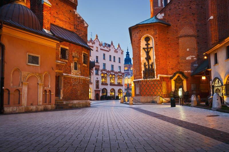 Vie di Cracovia fotografie stock