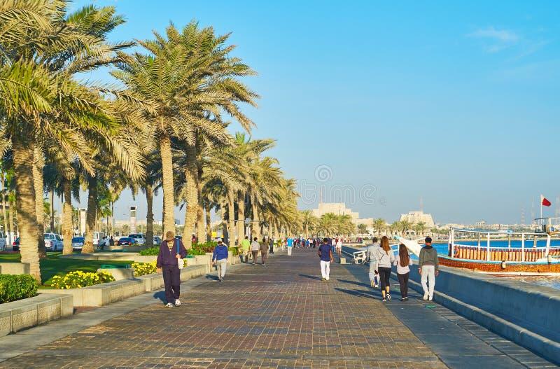 Vie di Doha, Qatar fotografia stock libera da diritti