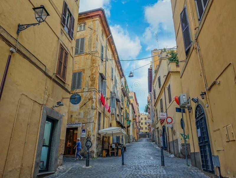 Vie di Frascati in Italia fotografia stock libera da diritti