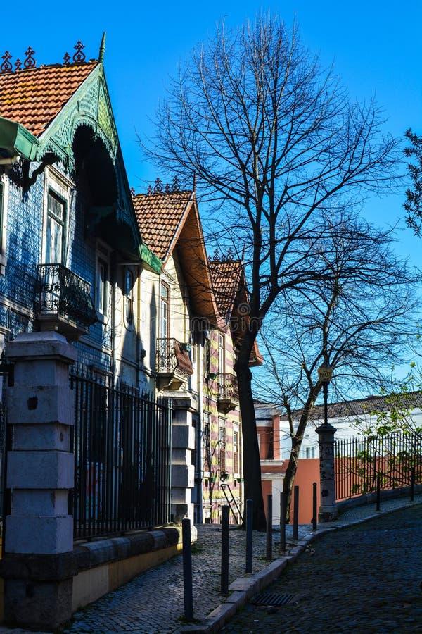 Vie di Lisbona fotografie stock libere da diritti