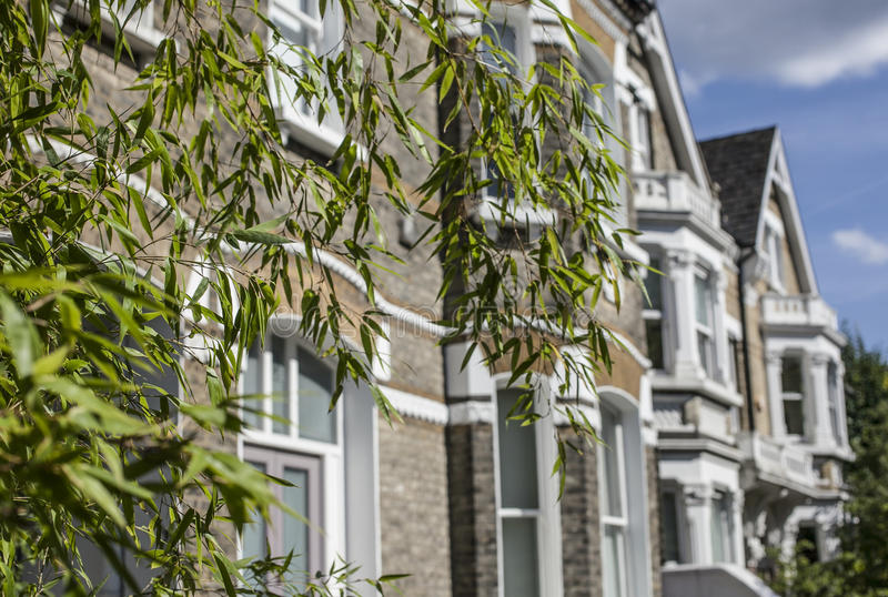 Vie di Londra, una casa blu fotografia stock libera da diritti
