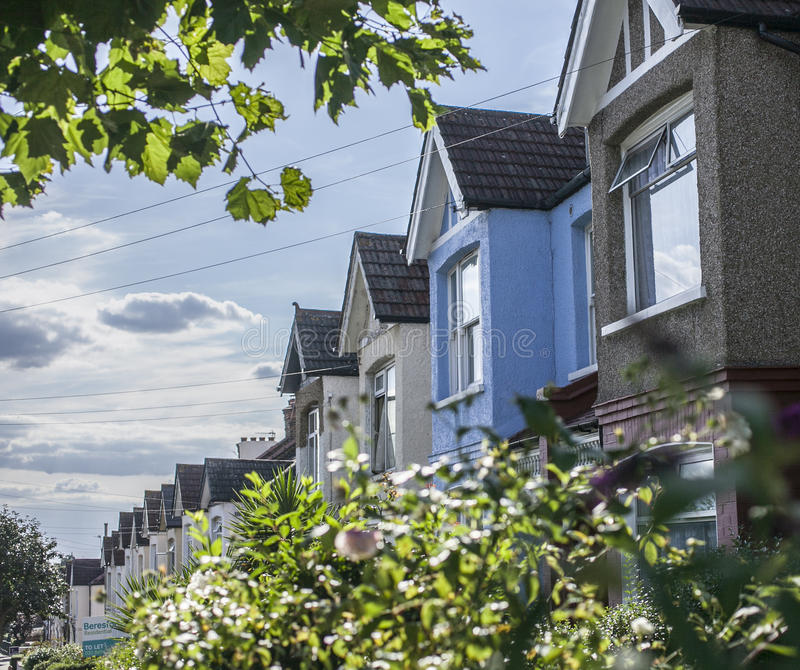 Vie di Londra, una casa blu immagine stock libera da diritti