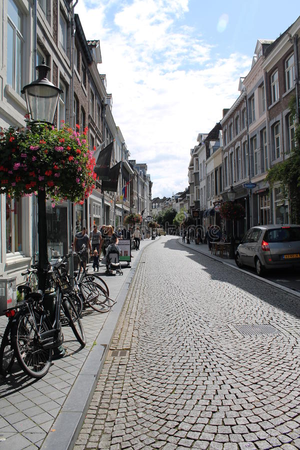 Vie di Maastricht fotografia stock