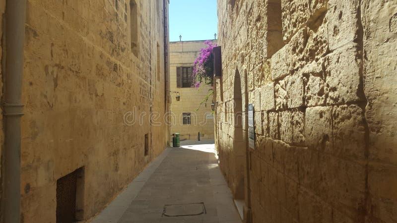 Vie di Malta fotografie stock libere da diritti