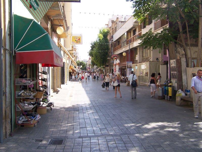 vie di Nicosia fotografie stock libere da diritti