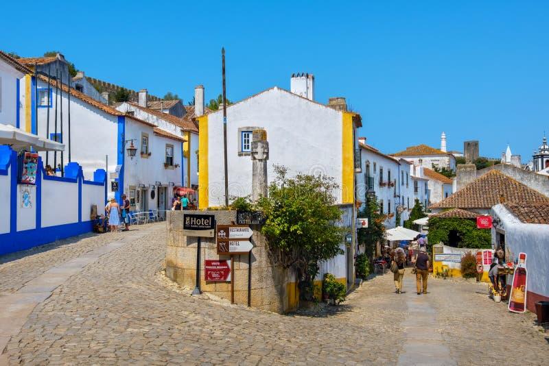 Vie di Obidos Estremadura, Portogallo immagine stock libera da diritti