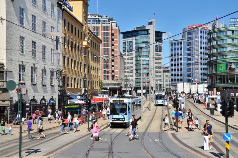 Vie di Oslo fotografia stock