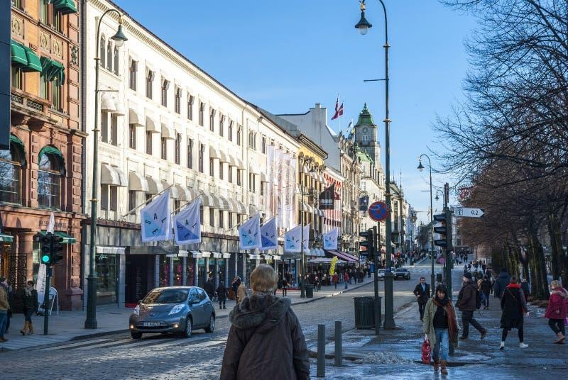 Vie di Oslo, Norvegia fotografie stock