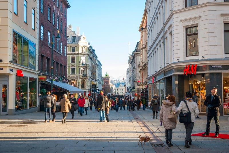 Vie di Oslo, Norvegia fotografia stock libera da diritti