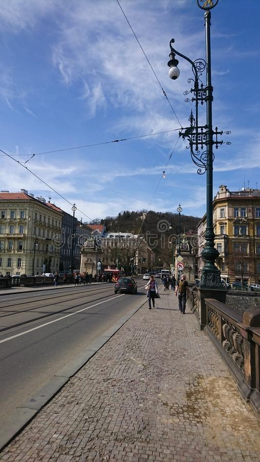 Vie di Praga fotografia stock libera da diritti