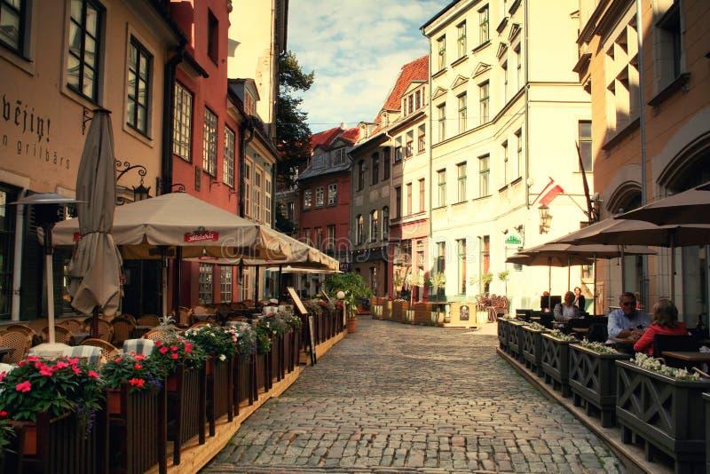 Vie di Riga fotografia stock