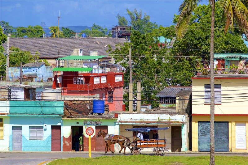 Vie di Santa Clara, Cuba fotografie stock libere da diritti