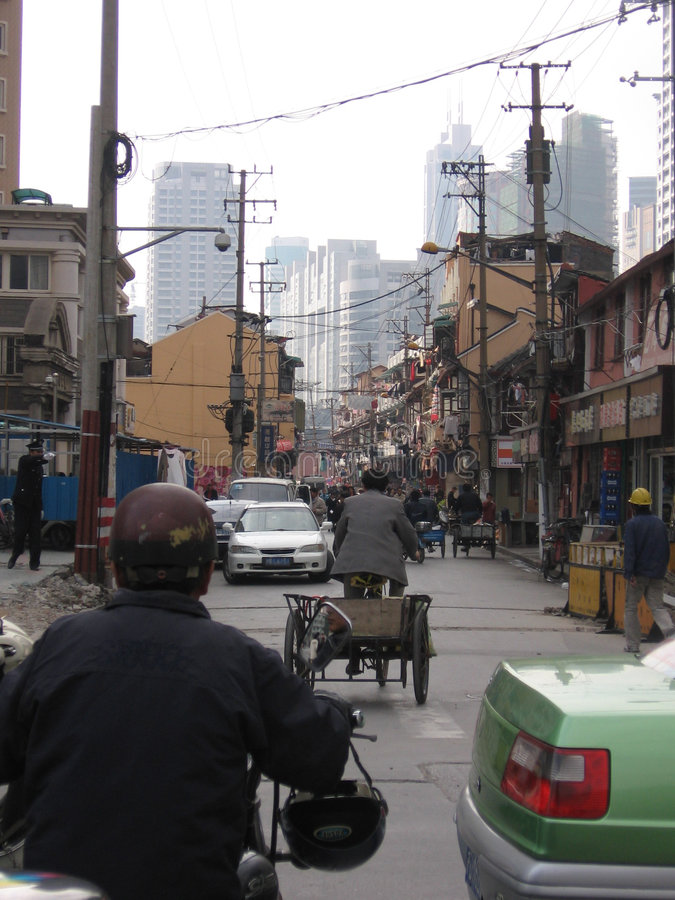 Vie di Schang-Hai fotografie stock