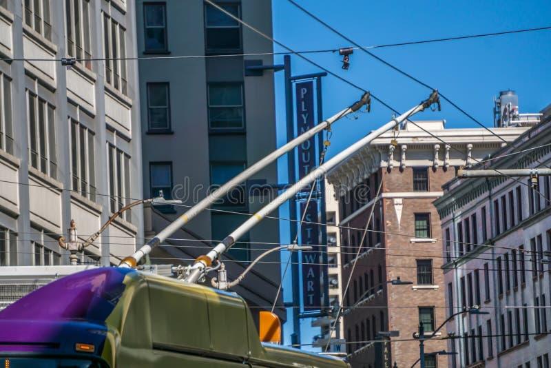 Vie di Seattle Washington il giorno soleggiato immagine stock
