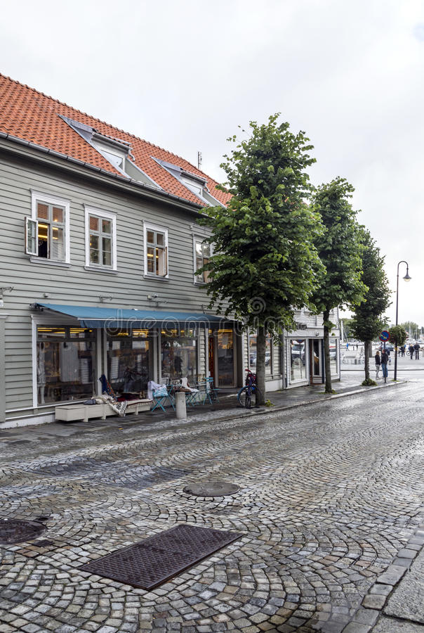 Vie di Stavanger immagine stock