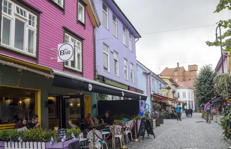 Vie di Stavanger fotografia stock libera da diritti