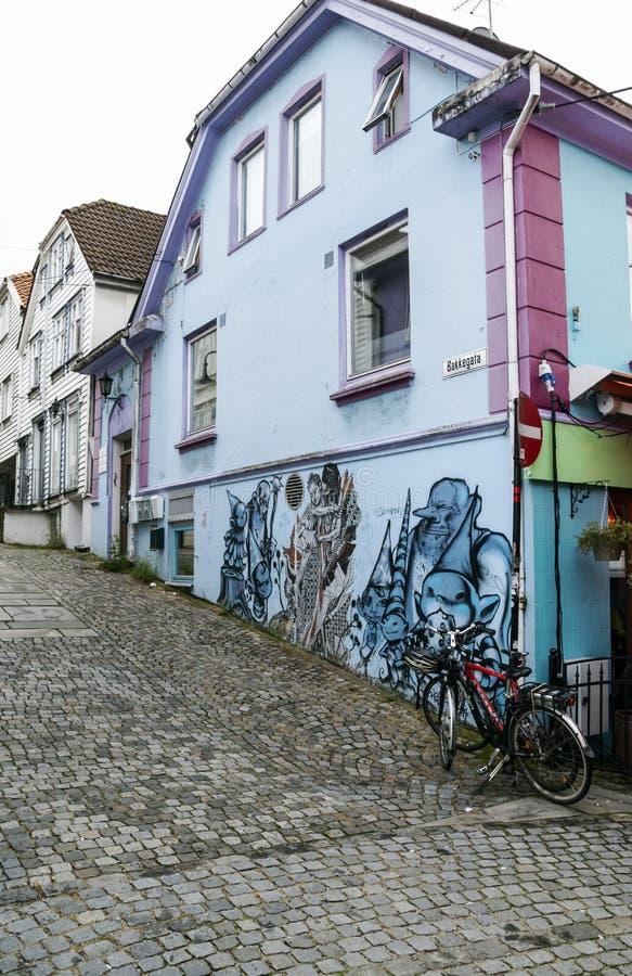 Vie di Stavanger fotografie stock