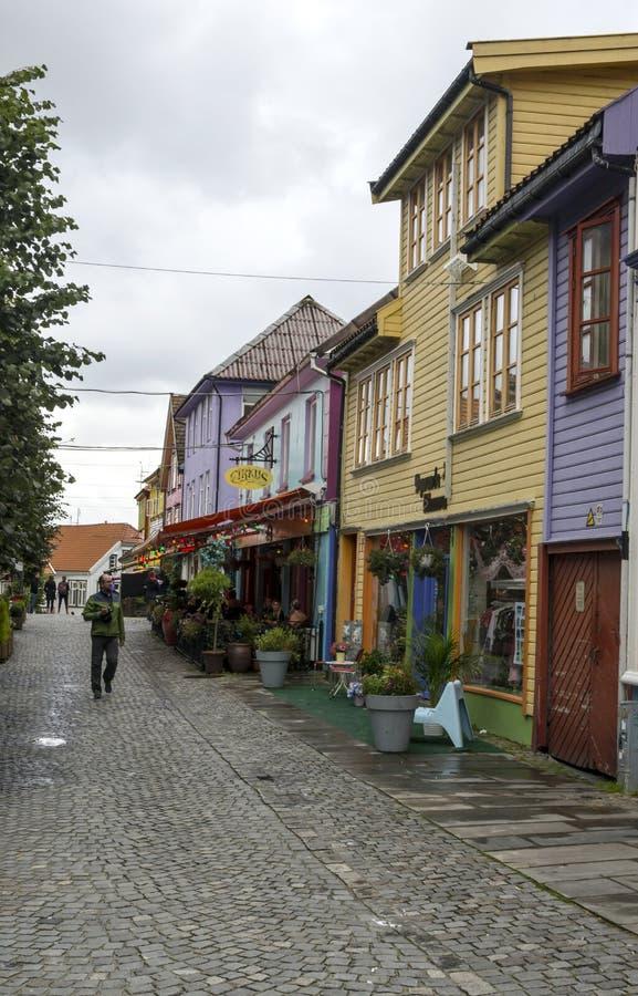 Vie di Stavanger immagini stock