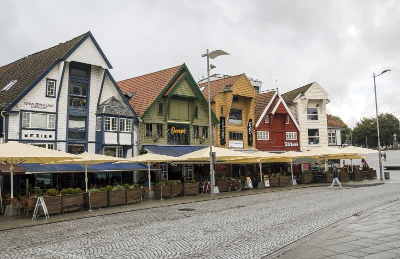 Vie di Stavanger immagine stock libera da diritti