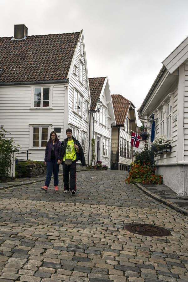 Vie di Stavanger fotografie stock libere da diritti