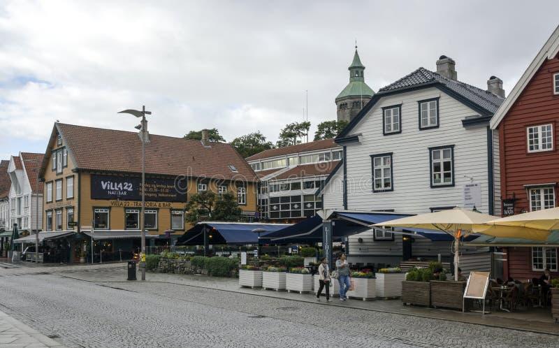 Vie di Stavanger immagini stock libere da diritti