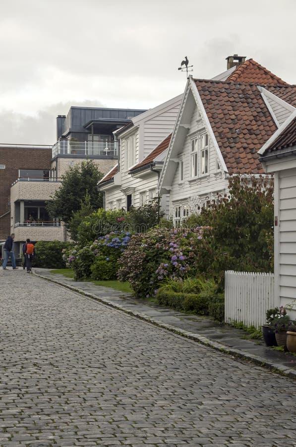 Vie di Stavanger fotografia stock