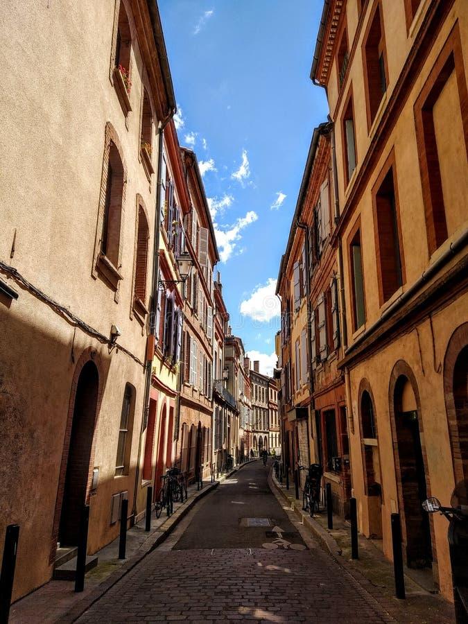 Vie di Tolosa, Francia immagini stock libere da diritti