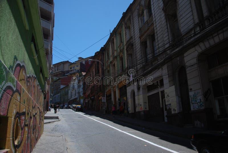 Vie di Valparaiso, Cile immagini stock