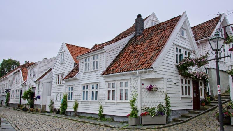 Vie di vecchia città di Stavanger fotografia stock