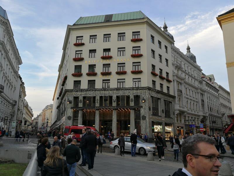 Vie di Vienna fotografie stock libere da diritti