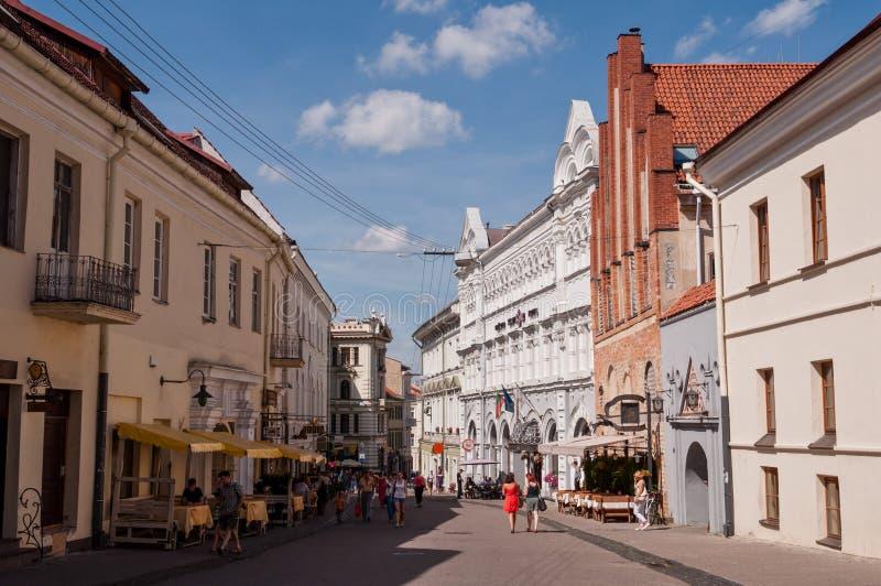 Vie di Vilnius Città Vecchia fotografie stock