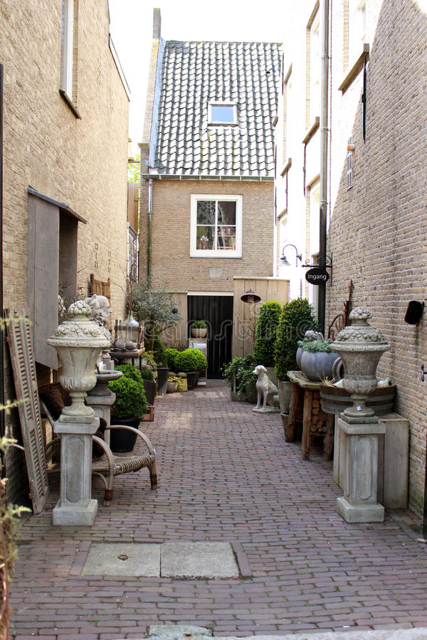 Vie e case, Olanda fotografia stock libera da diritti